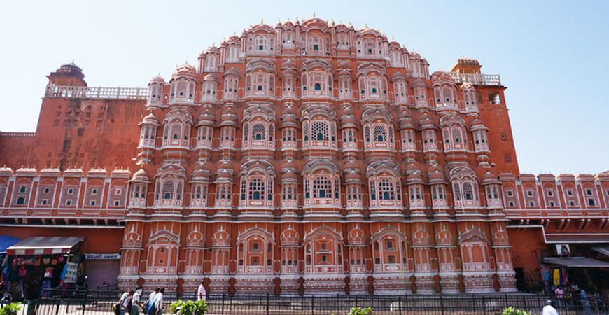 jaipur-ville-rouge-rajasthan-palais-vent-hawa-mahal