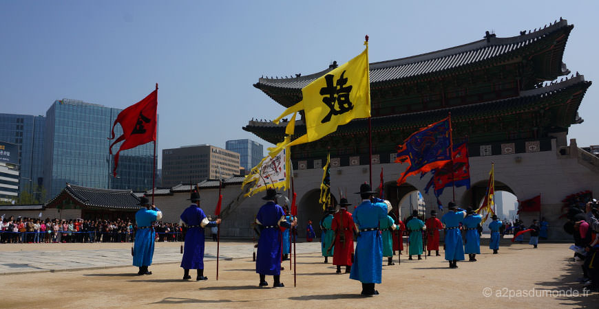 voyage-coree-du-sud-seoul-palais-cheonggyecheon-releve-garde