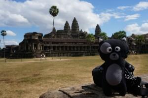 (11) Kiwi pose devant Angkor Vat, la 8ème merveille du Monde.