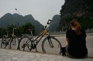 (10) Kiwi se joint à nous pour une balade en vélo dans la baie d'Halong terrestre au Vietnam.